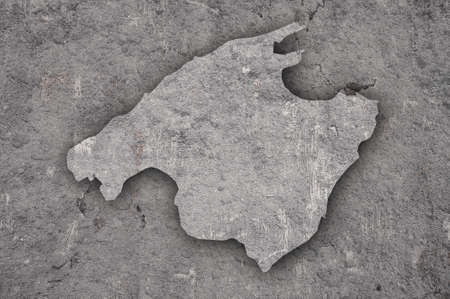 Map of Mallorca on weathered concrete Imagens