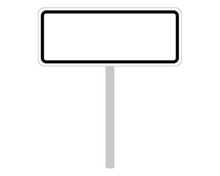 Road sign of the Czech Republic on white 向量圖像