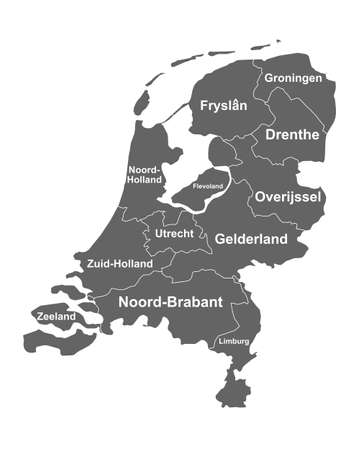 Map of the Netherlands with provinces