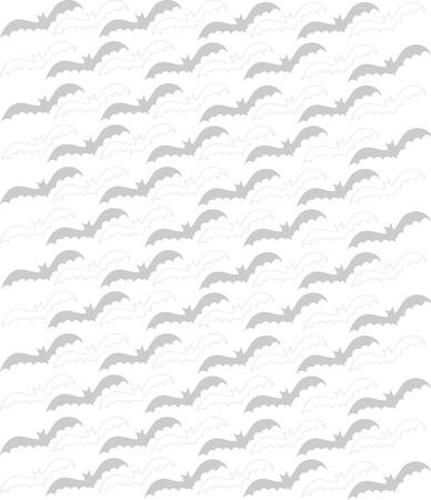 flying bats: Black and white flying bats background Illustration