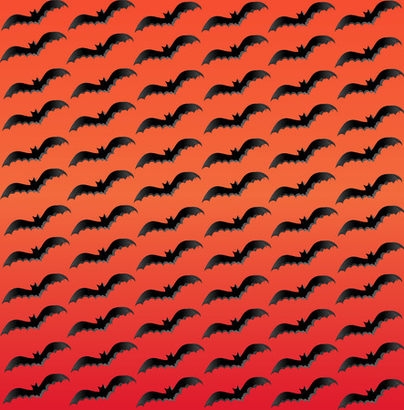 flying bats: Flying bats periodic background, sunset colors