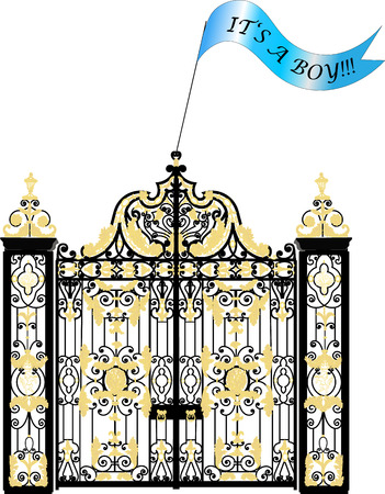 baby boy announcement: Kensington palace gate home of Duke and Duchess of Cambridge newborn baby boy announcement