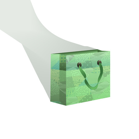 gift bag: Zentangle gift bag with a long double shadow Illustration