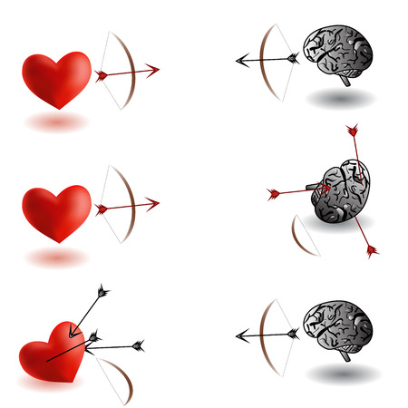 contest: Heart versus brain archery contest, heart winner, brain winner variations