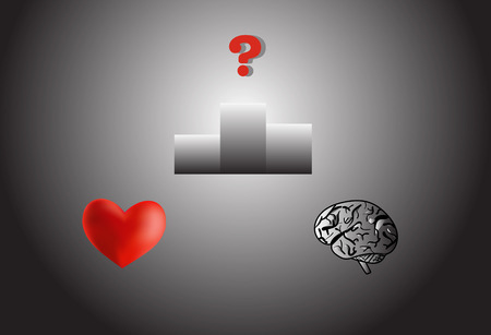 contestant: Heart or brain, who is the winner Illustration