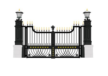 백악관 정문; 워싱턴 DC; 미국; 대통령 집