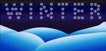 snowdrifts: Winter sign made from snowflakes, seasonal banner Illustration