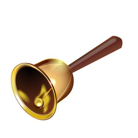 handle bars: Realistic vector bell
