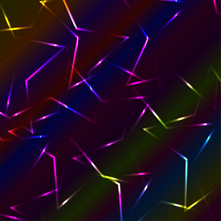 bended: Neon colorful laser bended crossed lines, multicolor background