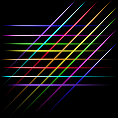 fading: Fading laser neon crossing lines, black background