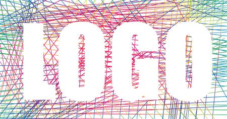 inverse: Inverse logo design contrast rainbow net Illustration
