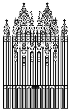 precise: Rashtrapati Bhavan residence gate, official home of president of India, new delhi, southeast asia, detailed precise vector