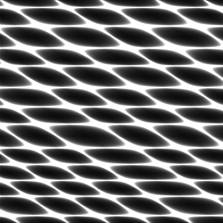 Cell tissue, netting, honeycomb, abstract black and white vector fencing background