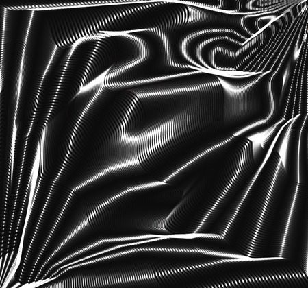 black satin: Vector black and white background, fulled satin fabric design, shades of grey lines and curves