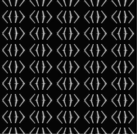 Silver periodic brackets, shades of grey seamless vector background Ilustração
