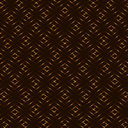 Diamond honey yellow, brown, golden grid seamless vector background