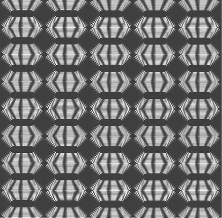 rhombic: Rhombic silver periodic diamonds, shades of grey optical illusion seamless vector background Illustration