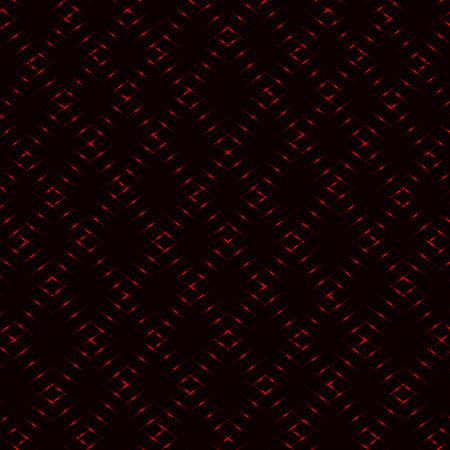 Diamond rhombic red grid, neon vector background Ilustração