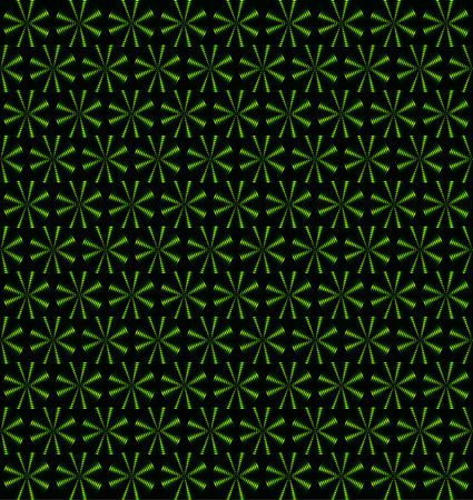 Grass green rotating fans, floral periodic pattern, seamless vector background