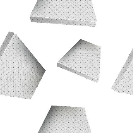 Realistic mattress seamless vector background, periodic pattern, shades of grey, transparent background. Ilustração
