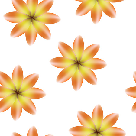 Orange yellow blossoms, seamless periodic floral pattern