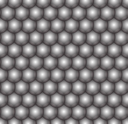 Black and white balls, seamless pattern, vector background.