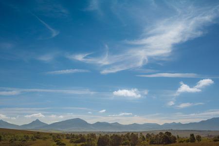 南アフリカ共和国の遠い山脈