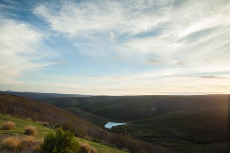 ゴンドワナ ゲーム リザーブ丘にうっすらと雲 写真素材