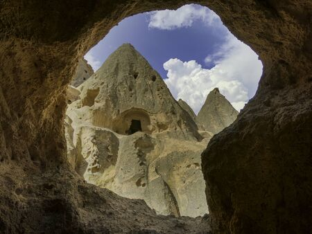 cappadocia christian cave structures in the mountains