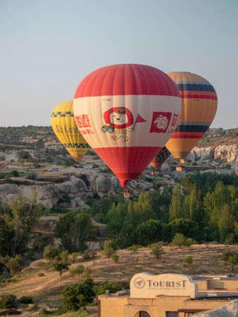 branded hot air balloon tours over cappadocia Editorial