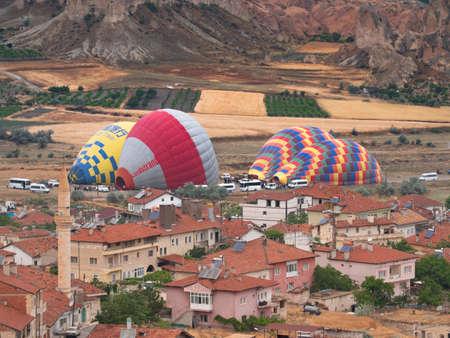 preparing Hot Air Balloons in Cappadocia, turkey Editorial