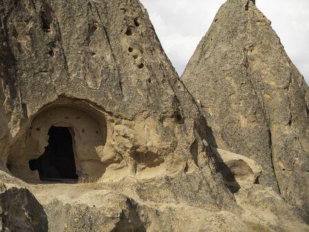 cave house entrance in cappadocia dessert