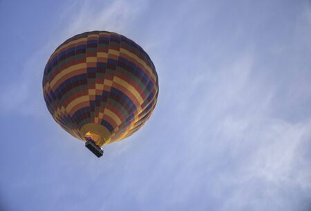 colorful hot air balloon in the sky Standard-Bild