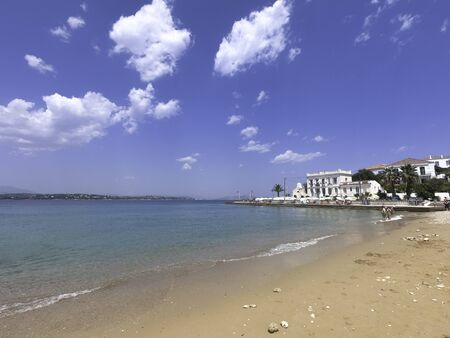 beach on the island of Spetses in Greece