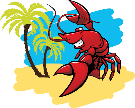 Lobster in the beach