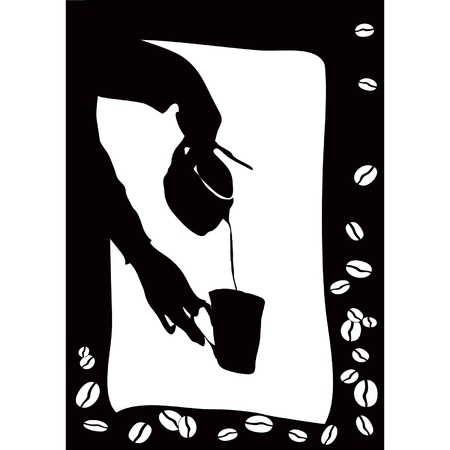 Pouring coffee into the cup