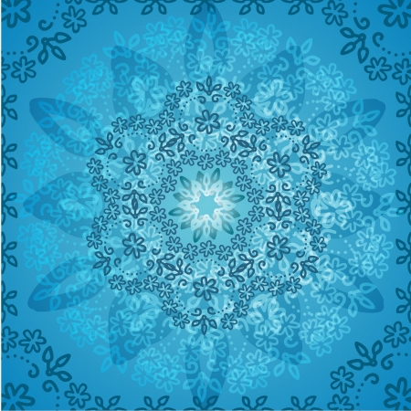 Background light blue flowers abstract