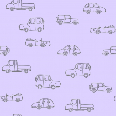 Different silhouette of cars seamless