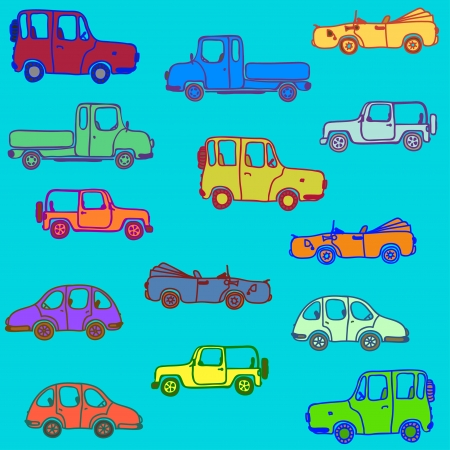 Cars of different color