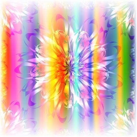 Background of different color floral Illustration