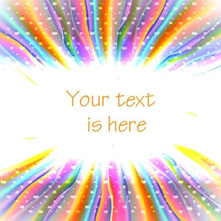 gleam: Brightness banner with rainbow gleam