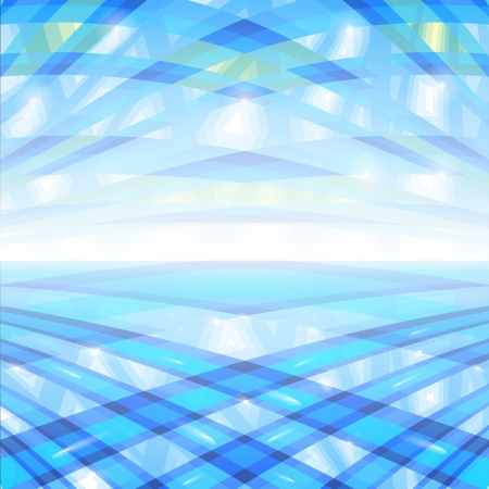 Lines blue color in spase and mirror
