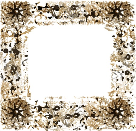 spatter: Abstract frame for greeting card flower and spatter