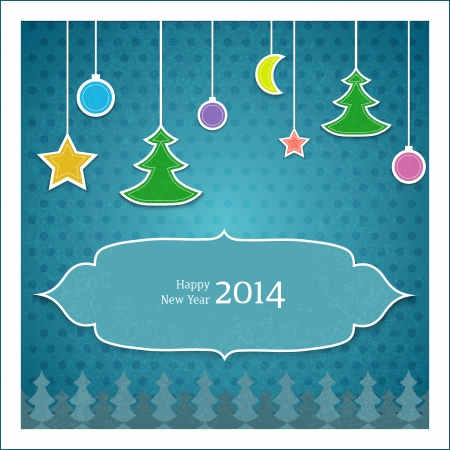 Christmas tree applique vector background Vector