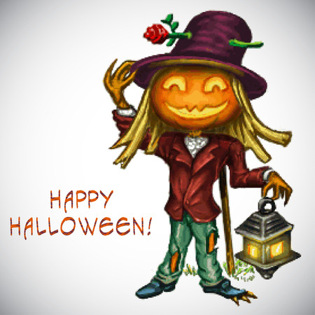 cucurbit: Scary Jack O Lantern halloween pumpkin