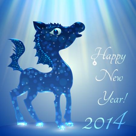 horse happy new year 2014 stock vector 23834579