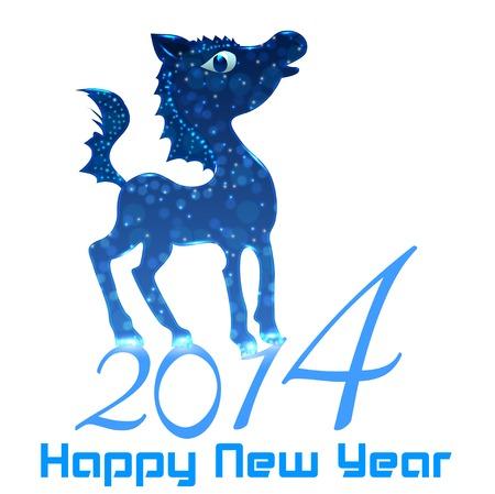 horse happy new year 2014 stock vector 23869975