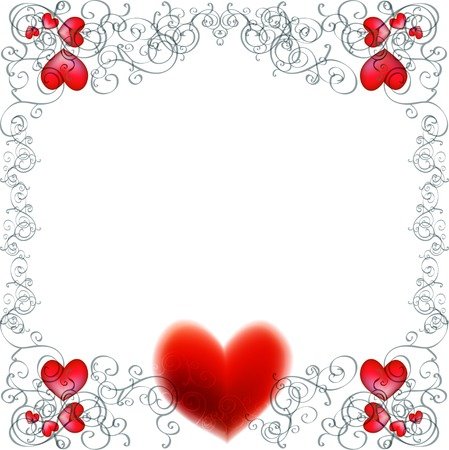 Vector background with beautiful red hearts Vector