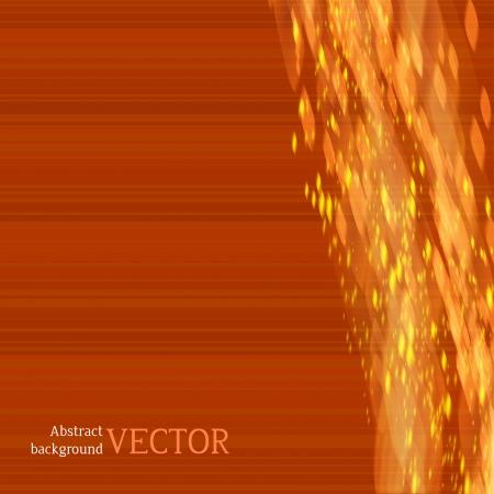 gleam: Lights on red orangebackground bokeh effect.