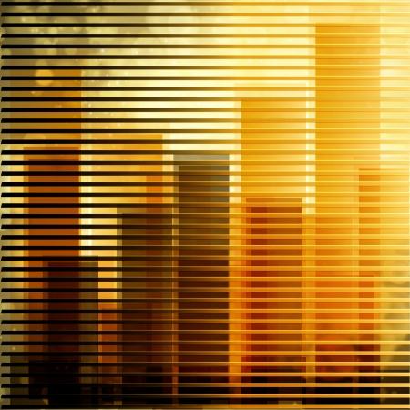 City landscape at daylight through window